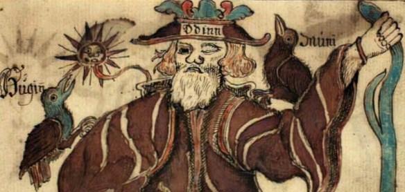 Odinn, Huginn, and Muninn